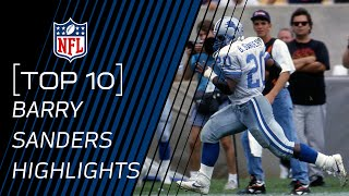 Top 10 Barry Sanders Touchdowns of All Time   NFL Legend Highlights