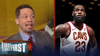 Chris Broussard on LeBron's MVP-caliber stats vs Harden's, Talks Kevin Love | FIRST THINGS FIRST