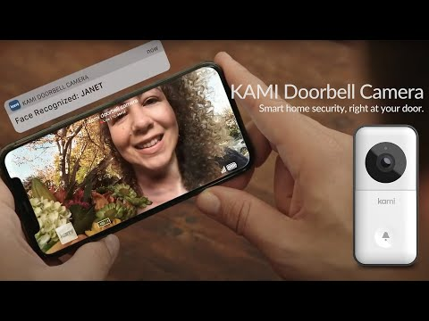 Kami Doorbell Camera features world class hardware, AI-based alerts and facial recognition, human detection, color night vision, outdoor durability, two-way audio and flexible communication, powerful 150-day battery, dual power mode, PIN setting and cloud storage.