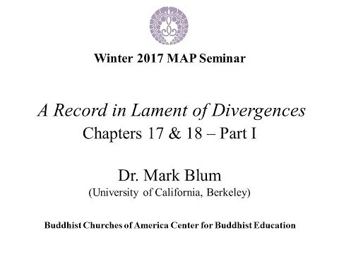 2017 Winter MAP Tannisho Chapters 17 & 18 by Dr. Mark Blum 1/2