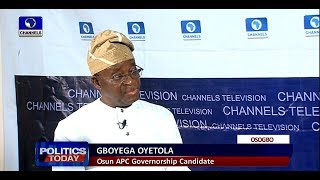 Osun Governorship Race: Payment Of Salary Arrears Not Political - Oyetola |Politics Today| - YouTube