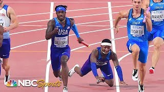 Botched handoff leaves USA 4x100 team's fate in limbo | NBC Sports