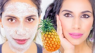 DIY Pineapple GLOWING SKIN Face Mask Pack  (Natural Skin Care Home Remedy) Himani Wright