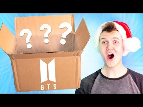 Opening a GIANT BTS CHRISTMAS K-POP MYSTERY BOX!