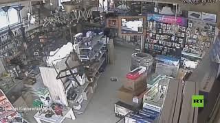 كاميرات-المراقبة-ترصد-لحظة-وقوع-زلزال-قوي-في-اليونان-