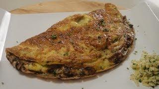 Mushroom and Cheese Stuffed Omelette ..