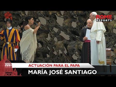 Cantante gitana sorprende al Papa Francisco con dos canciones flamencas