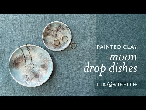 Painted Clay Moon Drop Dishes