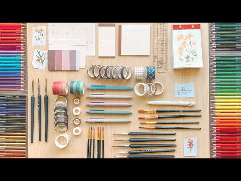 ⭐ HUGE Stationery Haul! ✏️ unboxing + sketching