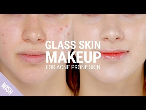 Glass Skin Makeup Tutorial for Acne Prone Skin with Blemishes | What's TRENDing