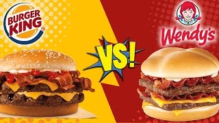 Burger King Bacon King vs Wendy's Baconator