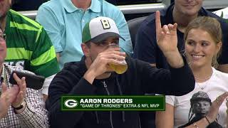 Aaron Rodgers Couldn't Finish Beer Chug At Eastern Conference Finals Game 5