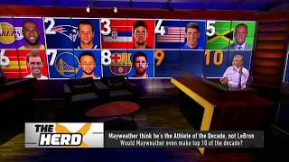Colin lists 10 male athletes who've been more influential than Mayweather in past decade | THE HERD