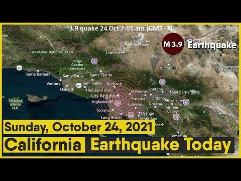 California Earthquake Today | 3.9 magnitude earthquake recorded near Los Angeles | October 24, 2021