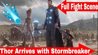 Thor Arrives In Wakanda Fight Scene With Stormbreaker - Was This The Best Scene Of The Movie?