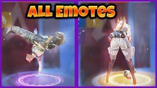All Legends Emotes Showcase - Apex Legends Season 9