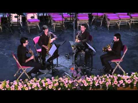 Cuarteto de Saxofones Êgaré Animé trés décidé de Claude Debussy