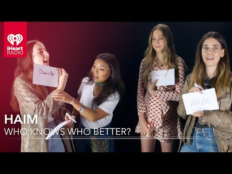 HAIM Plays Who Knows Who Better! | Exclusive Interview