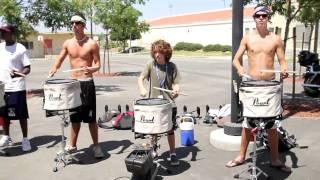 2010 Blue Devils drumline  - 12yr old Brandon center snare