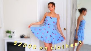 huge summer clothing haul! (try-on + prices)