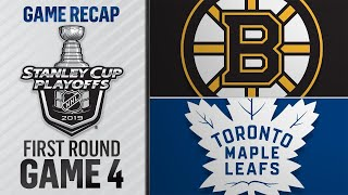 Pastrnak, Marchand lead Bruins past Leafs in Game 4