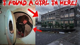 I FOUND A GIRL IN A HAUNTED ABANDONED COLLEGE BASEMENT! | MOE SARGI
