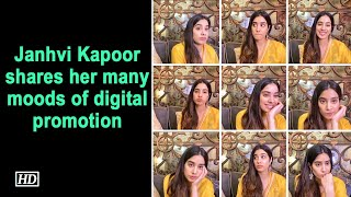Janhvi Kapoor shares her many moods of digital promotion..