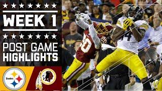 Steelers vs. Redskins   NFL Week 1 Game Highlights