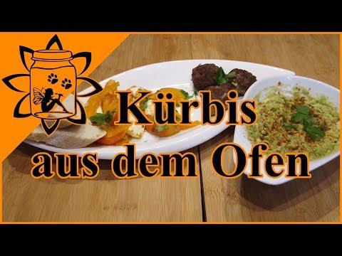 Kürbis aus dem Ofen   Ofenkürbis mit Hackbällchen   Rezept Kürbis   Kochen  Garteneinkochfee