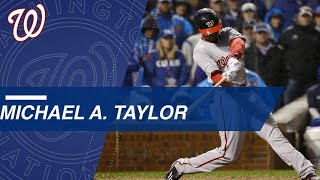 Watch Michael A. Taylor's big moments from the NLDS