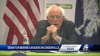 Sen. Bernie Sanders visits the Upstate