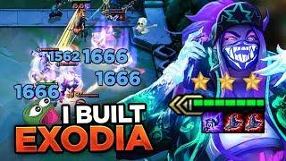 HOW DOES LUDENS SPLASH 1600 DMG? I BUILT EXODIA! | Teamfight Tactics
