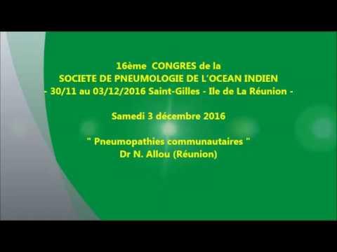 Pneumopathies communautaires. Dr N. Allou Réunion