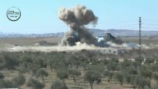 تفجير عربة مفخخة لتنظيم داعش على اطراف بلدة بزاعة     -