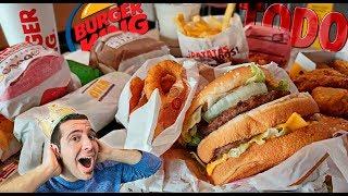 ME COMO TODO EL MENÚ DE BURGER KING | Probando todos los menús de Burger King España