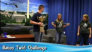 Games with Guests Baton Twirl Challenge