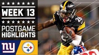 Giants vs. Steelers | NFL Week 13 Game Highlights
