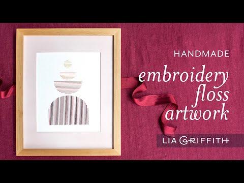 Handmade Embroidery Floss Artwork