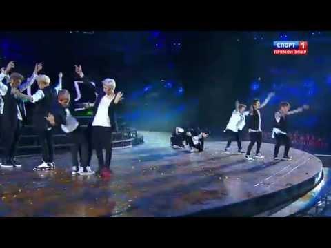 130717 EXO - Intro + Wolf & National @ 2013 KAZAN Summer Universiade