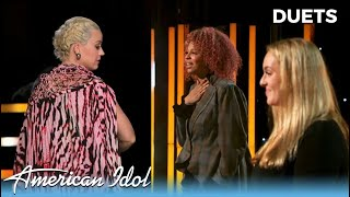 Katy Perry PULLS HER WIG OFF After Grace Kinstler & Alyssa Wray Deliver SHOWSTOPPING Duet!