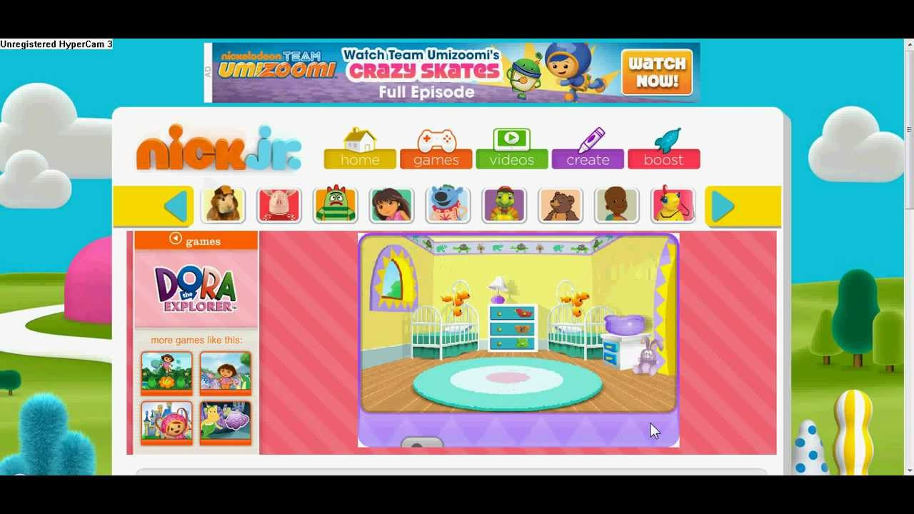 Nick Jr Kids Games Dora The Explorer With Yasso Smurf
