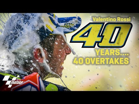 40 overtakes for Rossi?s 40 birthday