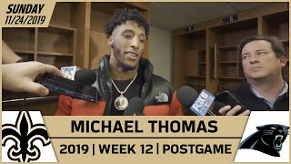 Michael Thomas on Preparation Paying Off after Win vs Panthers | New Orleans Saints Football