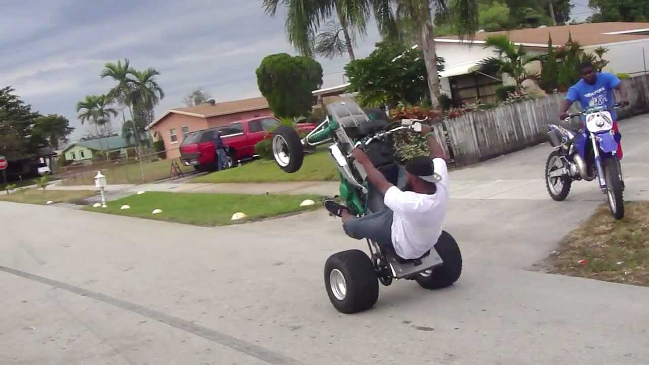 Four Wheeler With Rims: SNAP WHEEL STANDING A 4 WHEELER IN SLOW MOTION!! & SLOW
