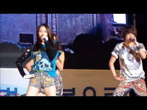 [FANCAM] 121020 f(x) - NU ABO at Gyeongbok High School Festival