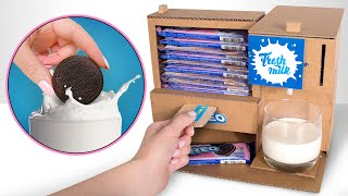 Awesome Cardboard Machine That Dispenses Oreo And Milk