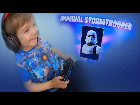 TRUMAnn Giving *6 YEAR OLD KID* NEW 'IMPERIAL STORMTROOPER' Star Wars EPIC Skin!!