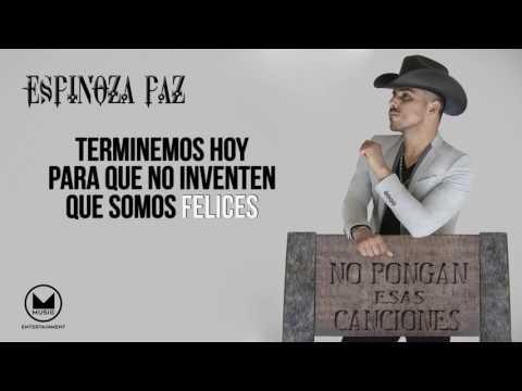 Espinoza Paz - Terminemos Hoy (Video Lyrics)