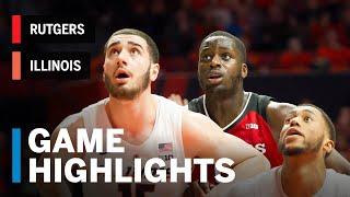 Highlights: Rutgers at Illinois | Big Ten Basketball