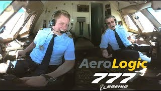 STUNNING PILOTS!!! Aerologic Boeing 777F ULTIMATE COCKPIT MOVIE to LEJ [AirClips full flight series]